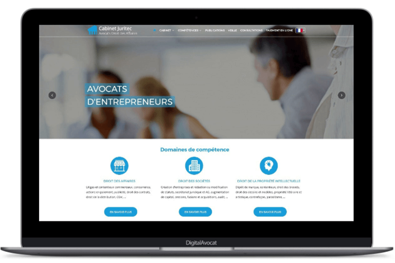 design professionnel site internet avocat